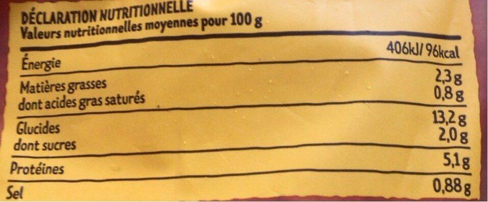 Paella - Informations nutritionnelles - fr
