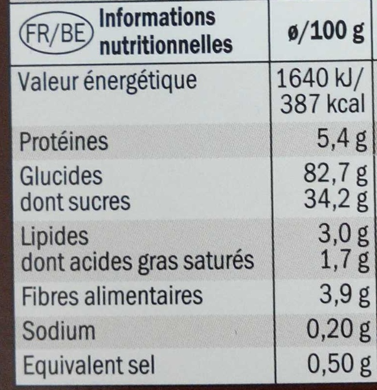 Micellar Soap Bar - Informations nutritionnelles - fr