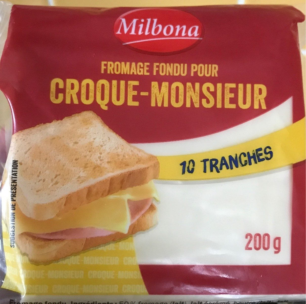 Croque Monsieur fondant (23 % MG) 10 tranches - Product