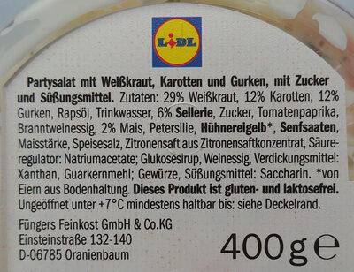 Party Salat - Zutaten - de