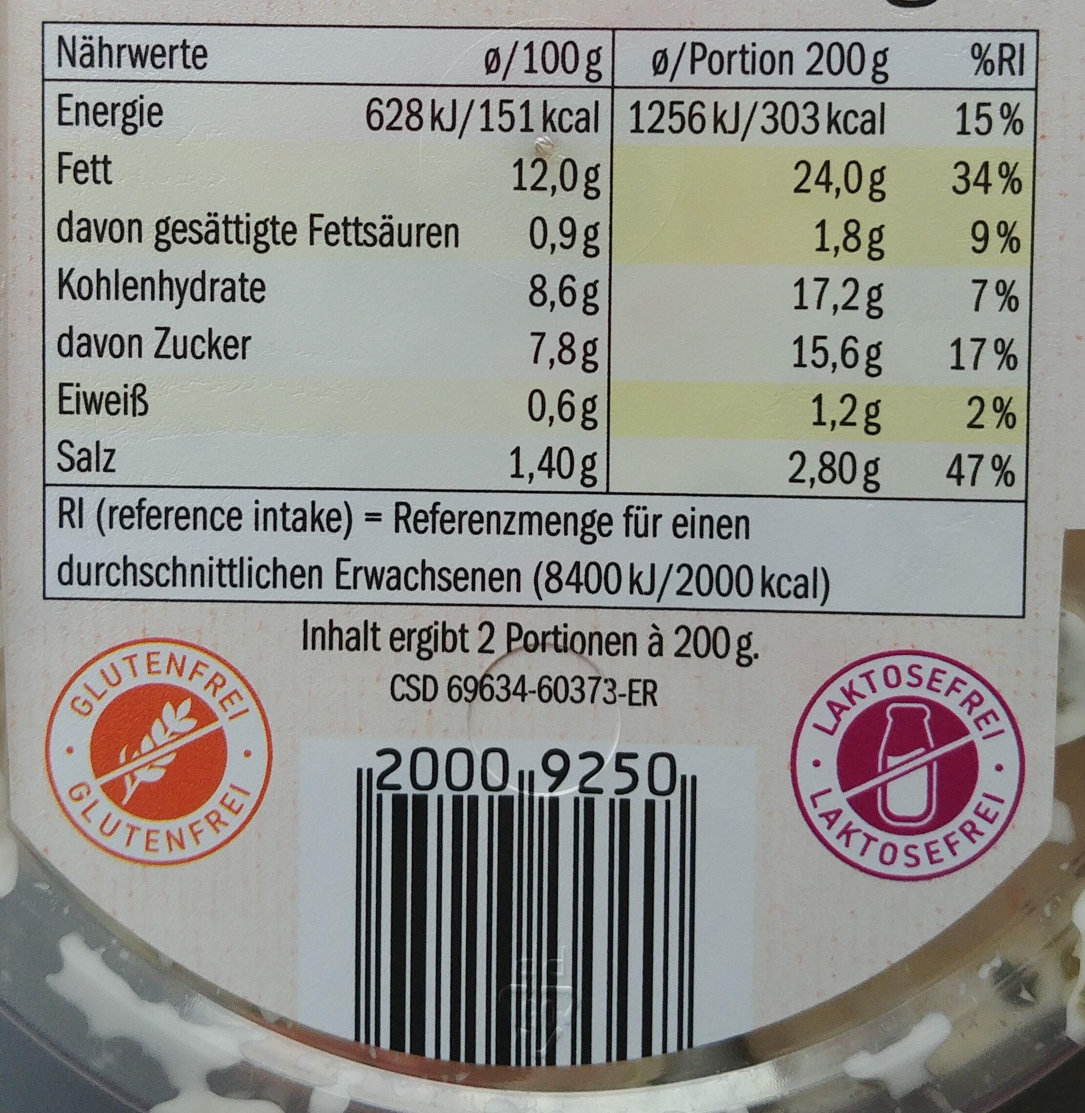 Bunter partysalat - Informations nutritionnelles - de