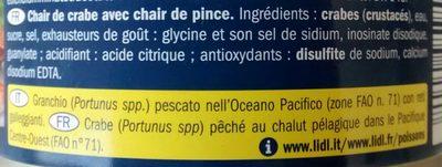 Chair de crabe - Ingredients