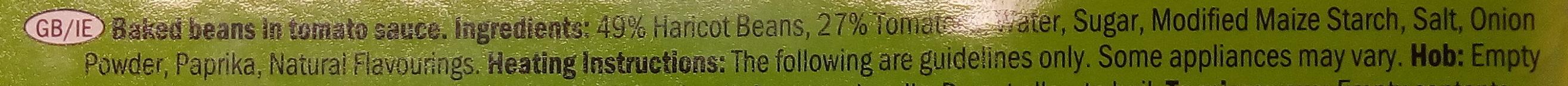 Freshona Baked Beans in Tomato Sauce - Ingrediënten - en