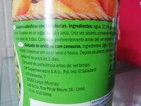 Guisantes con zanahorias - Ingredientes
