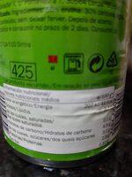 Guisantes con zanahorias - Información nutricional