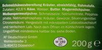 Milbona Schmelzkäsezubereitung - Inhaltsstoffe