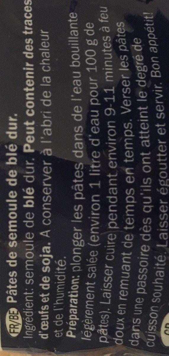 Penne Rigate - Ingrédients - fr