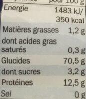 Penne Rigate - Informations nutritionnelles - de