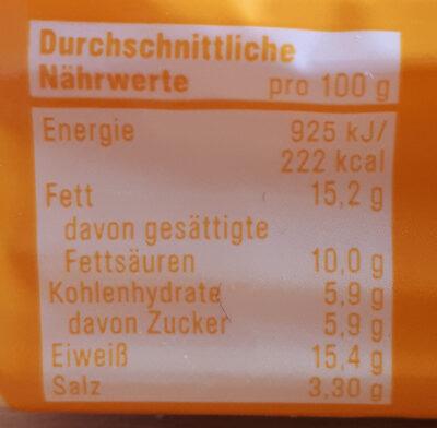 Speisestärke - Voedingswaarden - de