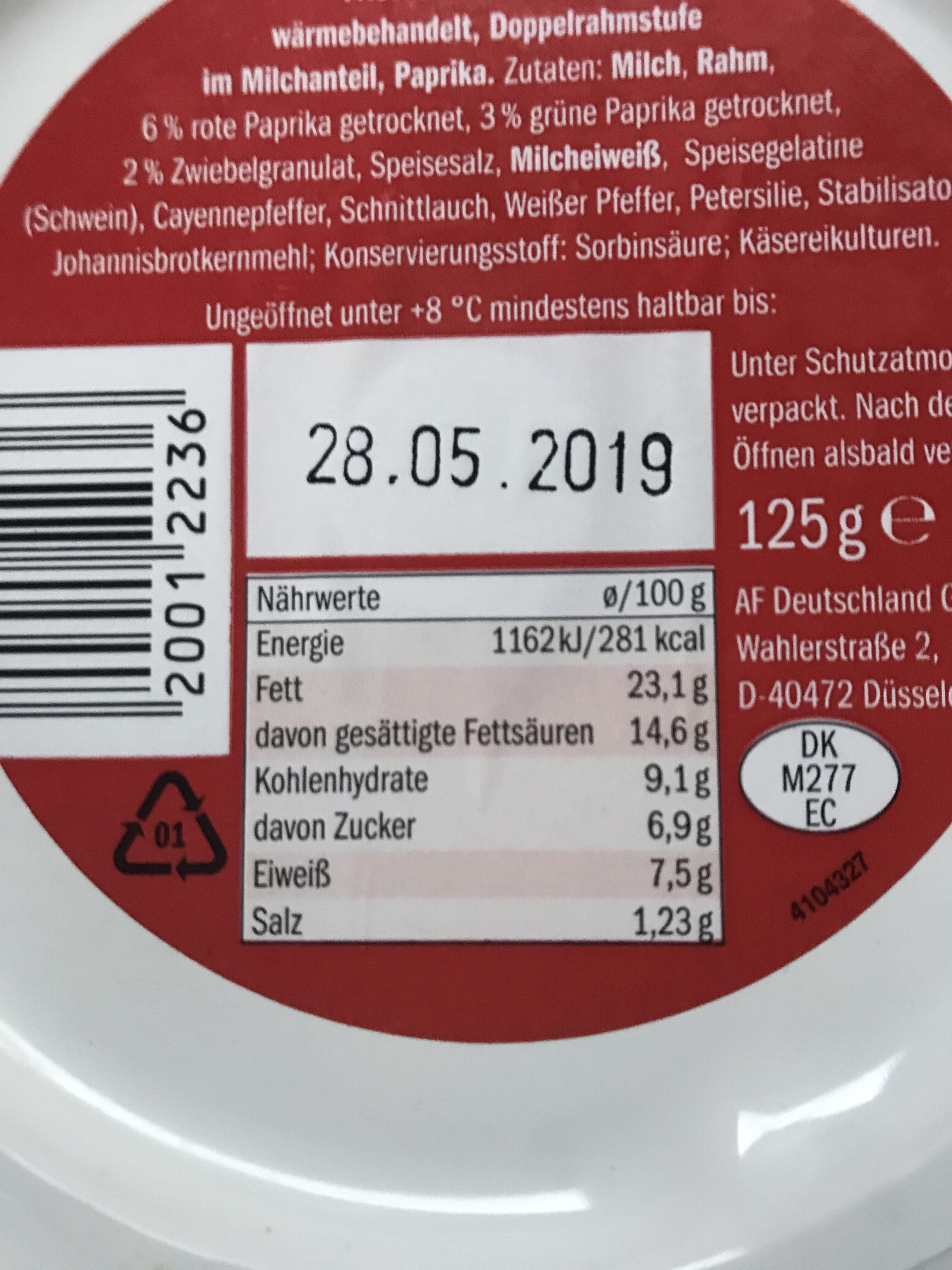 Milbona Paprika - Nutrition facts - de