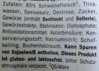 Saucisses de Francfort fumées - Zutaten - de