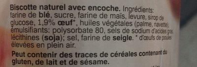 Biscottes Nature - Ingrediënten