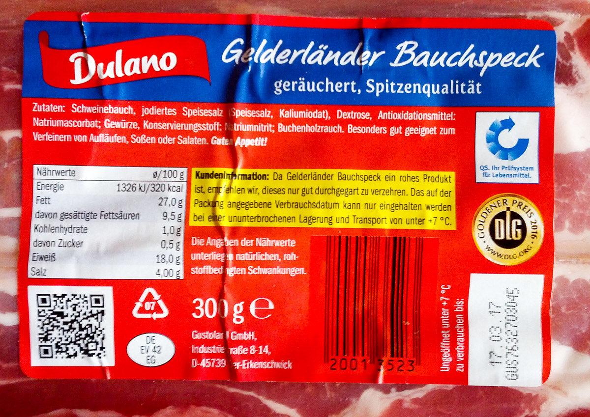 Gelderländer Bauchspeck - Produkt - de
