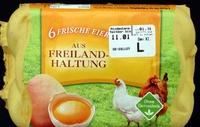 6 Frische Eier aus Freilandhaltung Güteklasse A - Product