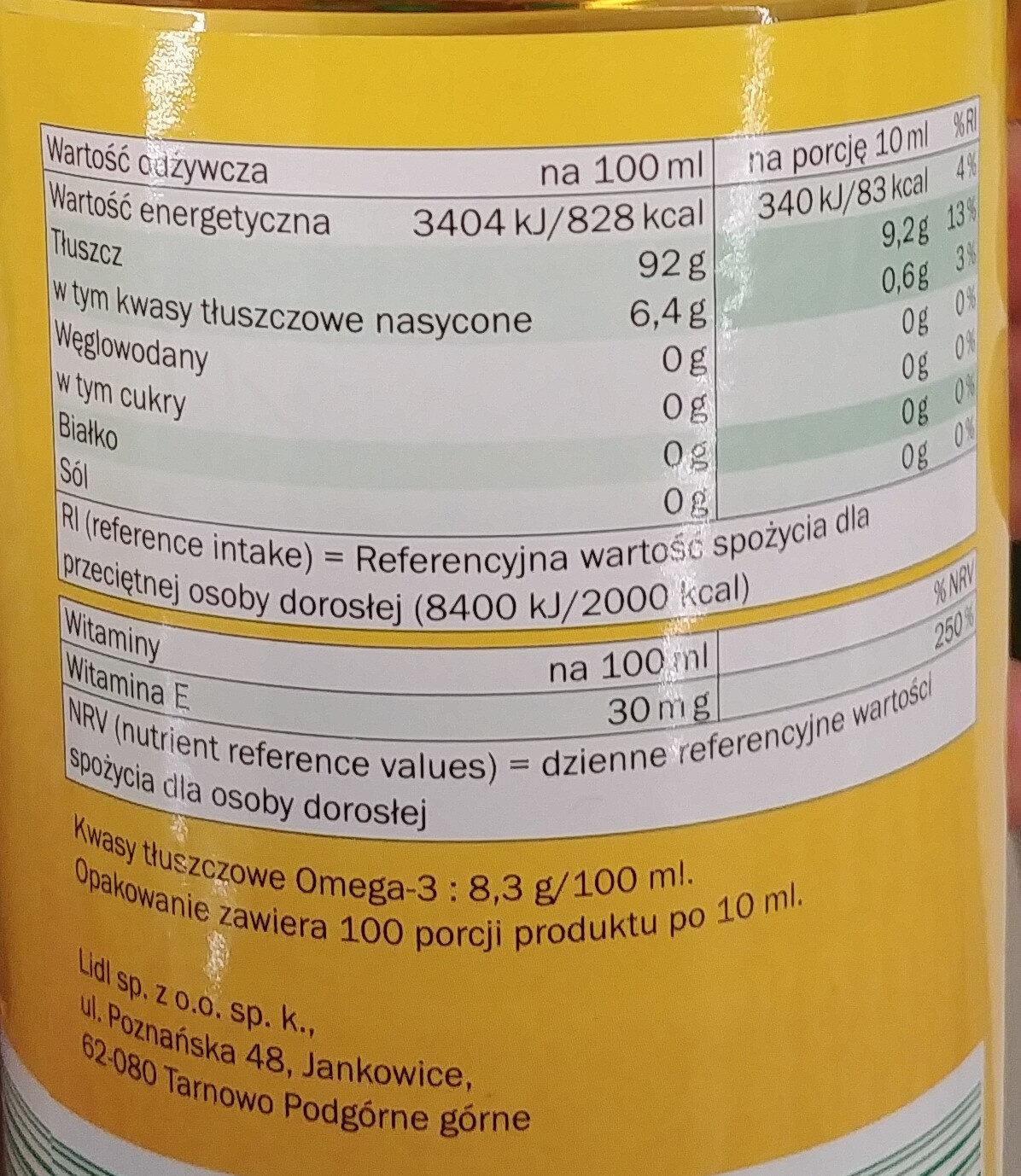 Rapsöl - Wartości odżywcze - pl
