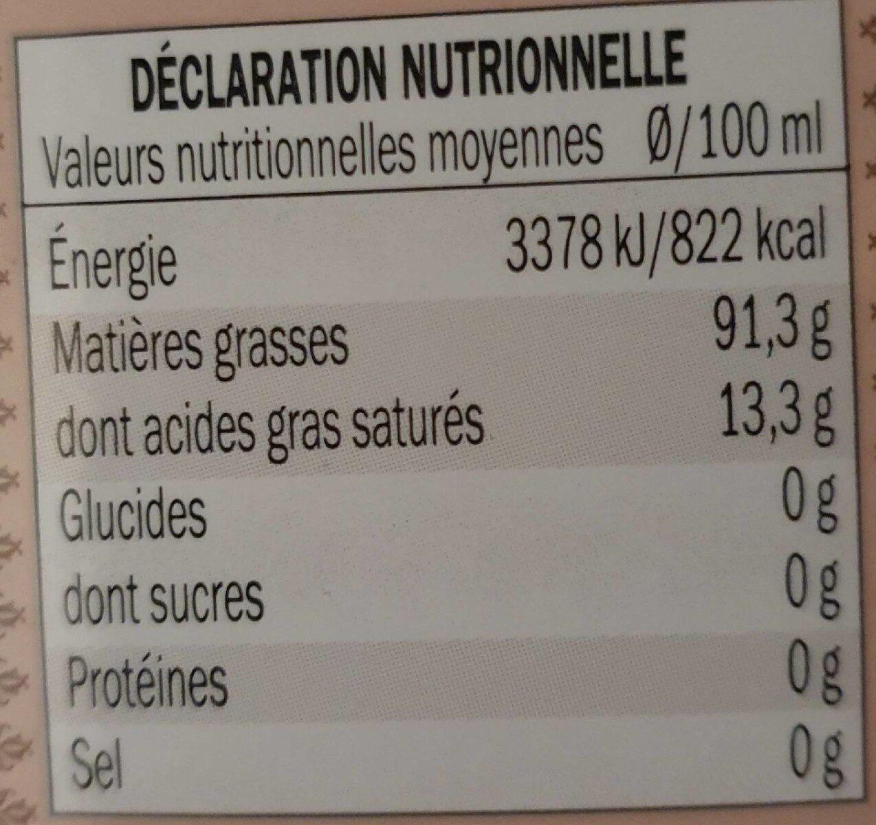 Extra Virgin Olive Oil - Nutrition facts - en