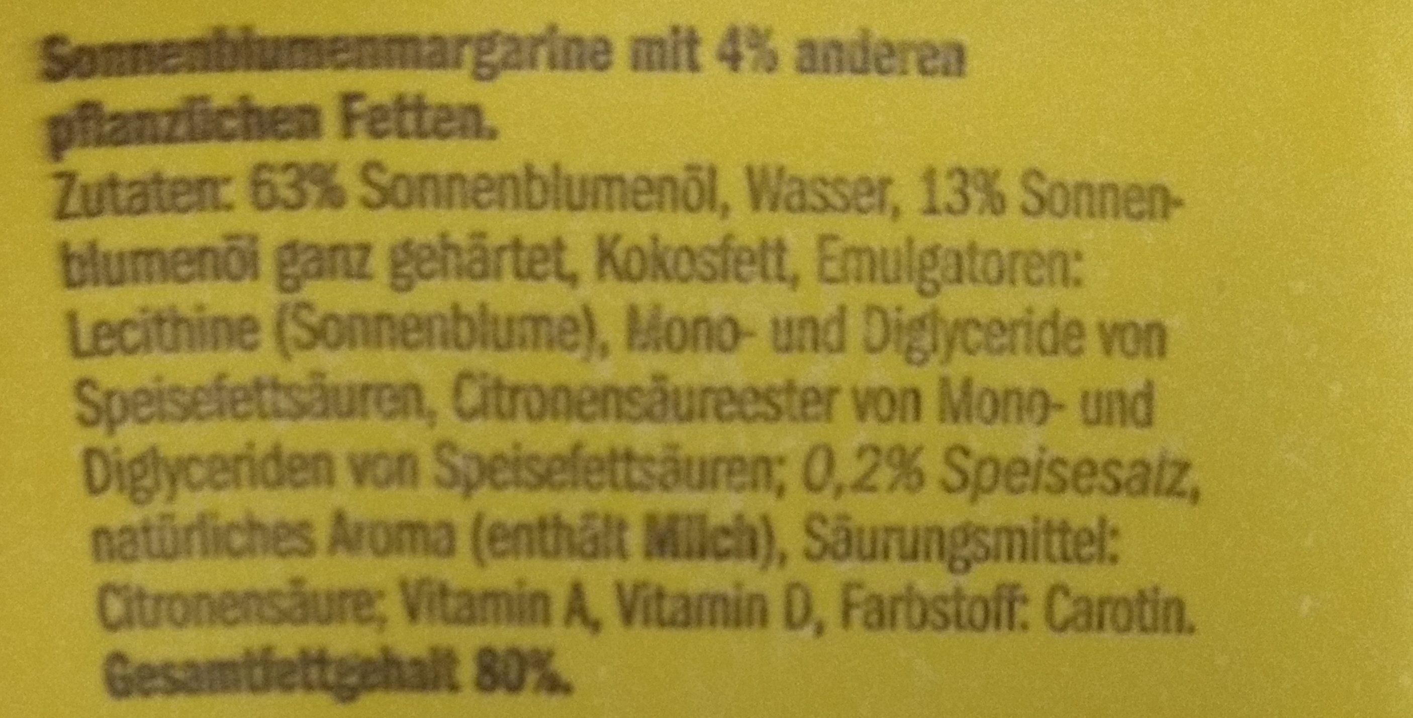 VitaD'or Magarine - Ingredientes - de