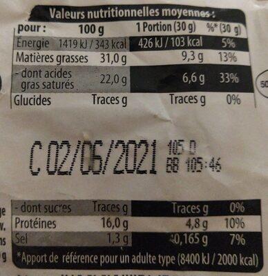 Petit brie Doux et Cremeux - Informations nutritionnelles - fr