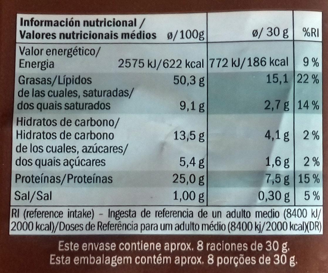 Cacahuètes grillées & salées - Información nutricional