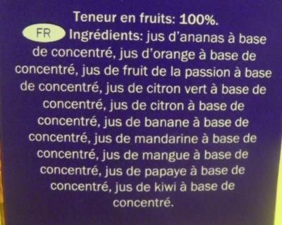 Vitafit Cocktail tropical - Ingrédients