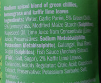 Thai green curry paste - Ingredients - en
