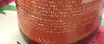 Mister Choc Choco Creme - Ingredientes - fr