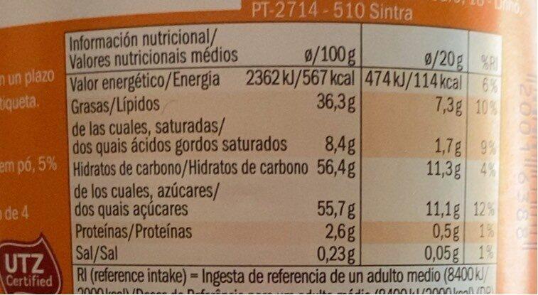 Mister Choc Choco Creme - Información nutricional - fr