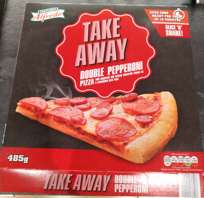 Lidl Trattoria Alfredo double pepperoni pizza - Product - en