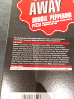 Lidl Trattoria Alfredo double pepperoni pizza - Ingredients - en
