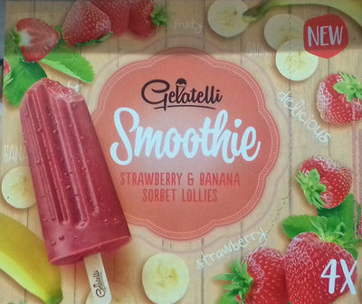 Smoothie Straberry & Banana Sorbet Lollies - Producto