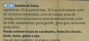 Smoothie Straberry & Banana Sorbet Lollies - Ingredientes