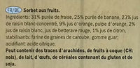 Smoothie Straberry & Banana Sorbet Lollies - Ingrediënten