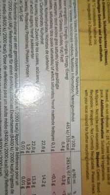 Smoothie gelatelli - Voedingswaarden - fr