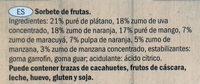 Smoothie apple, banana, mango & passion fruit sorbet lollies - Ingredientes