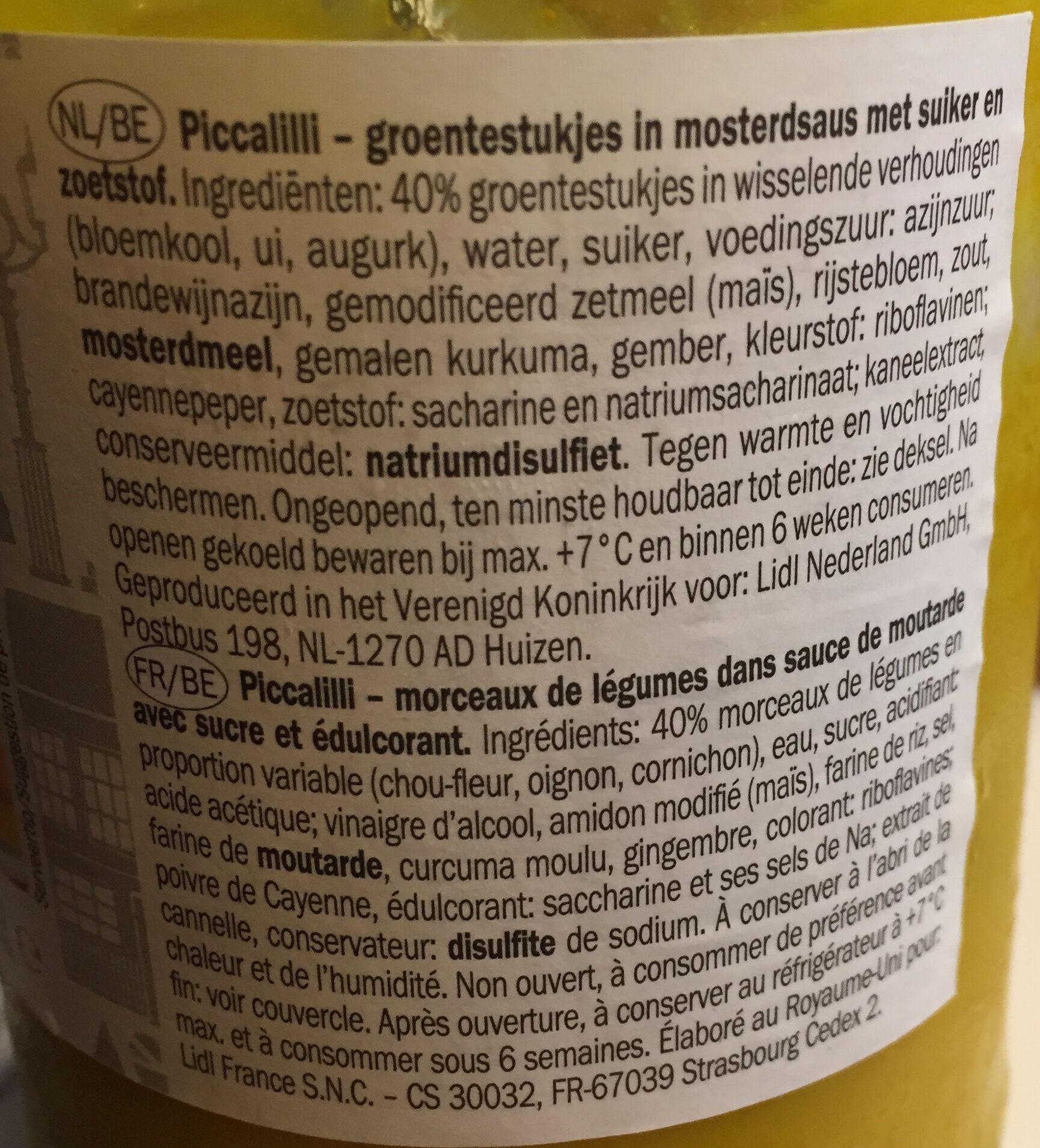 Piccalilly with mustard - Ingrediënten