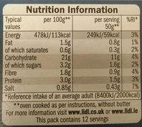Kania - Sage & Onion Stuffing - Informations nutritionnelles - en