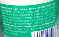 Chewing-gum saveur menthe verte - Ingredients - fr