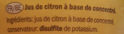 Citron - Ingredients - fr