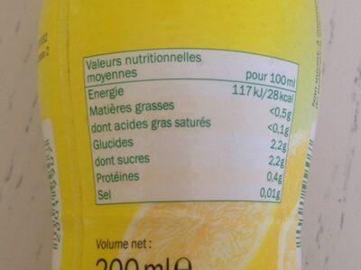 Zumo de limon - Nutrition facts - en