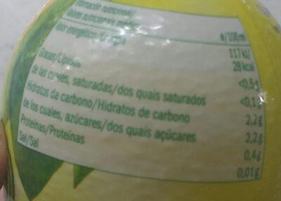 Zumo de limon - Valori nutrizionali - es