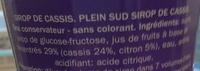 sirop de cassis - Ingredients