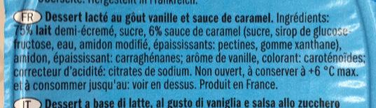 Vanilla crème caramel - Ingrédients - fr