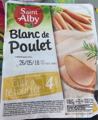 Blanc de Poulet, Cuit à l'étouffée (4 tranches) - Product