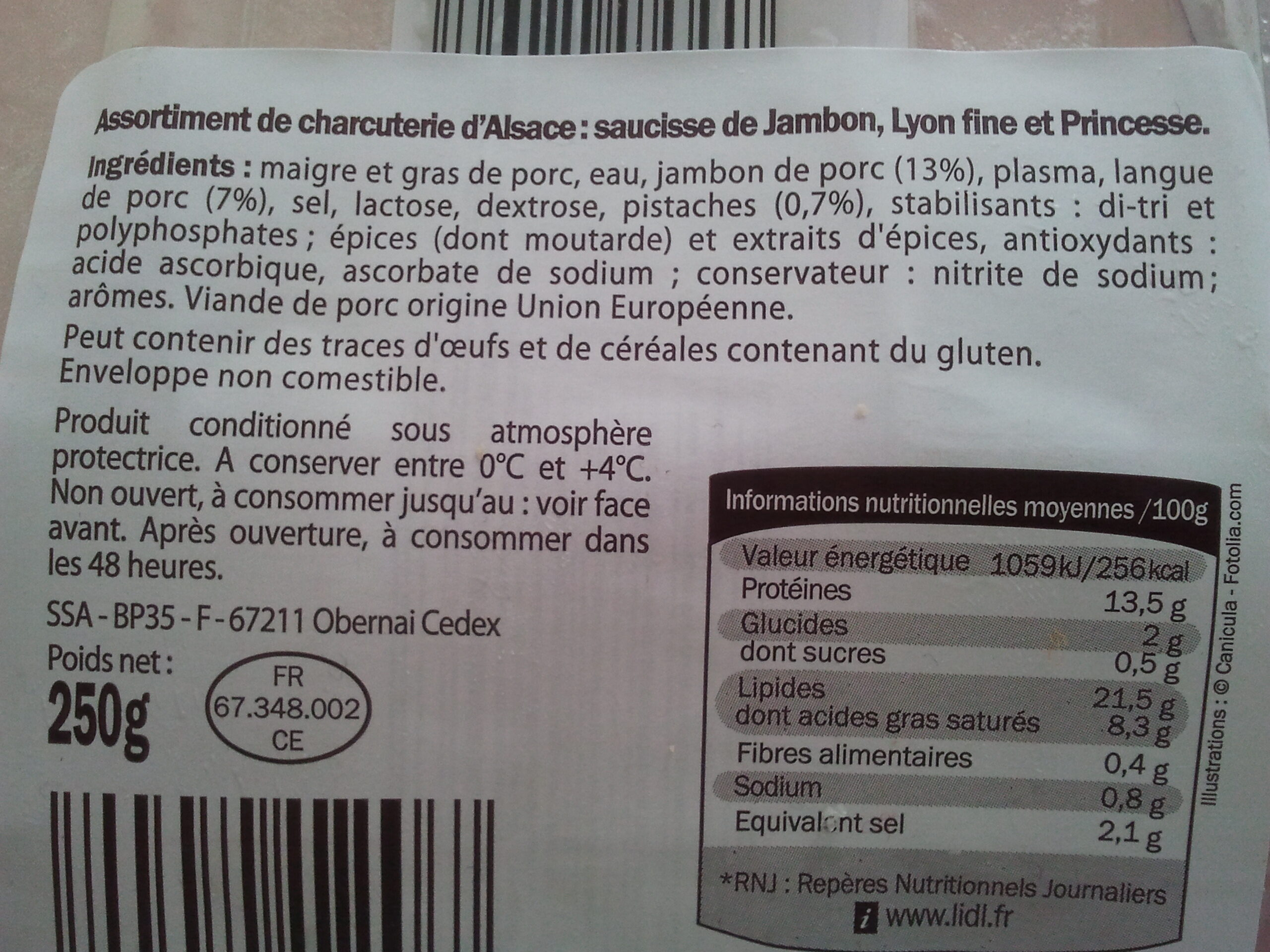 Assortiment Alsacien - Ingrediënten