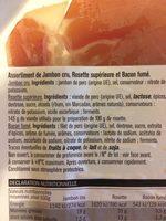 Jambon cru Rosette et Bacon - Ingrédients - fr