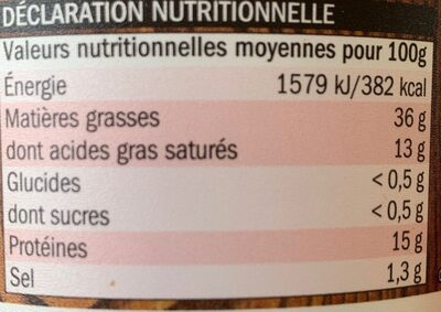 Véritables rillettes du Mans - Informations nutritionnelles - fr