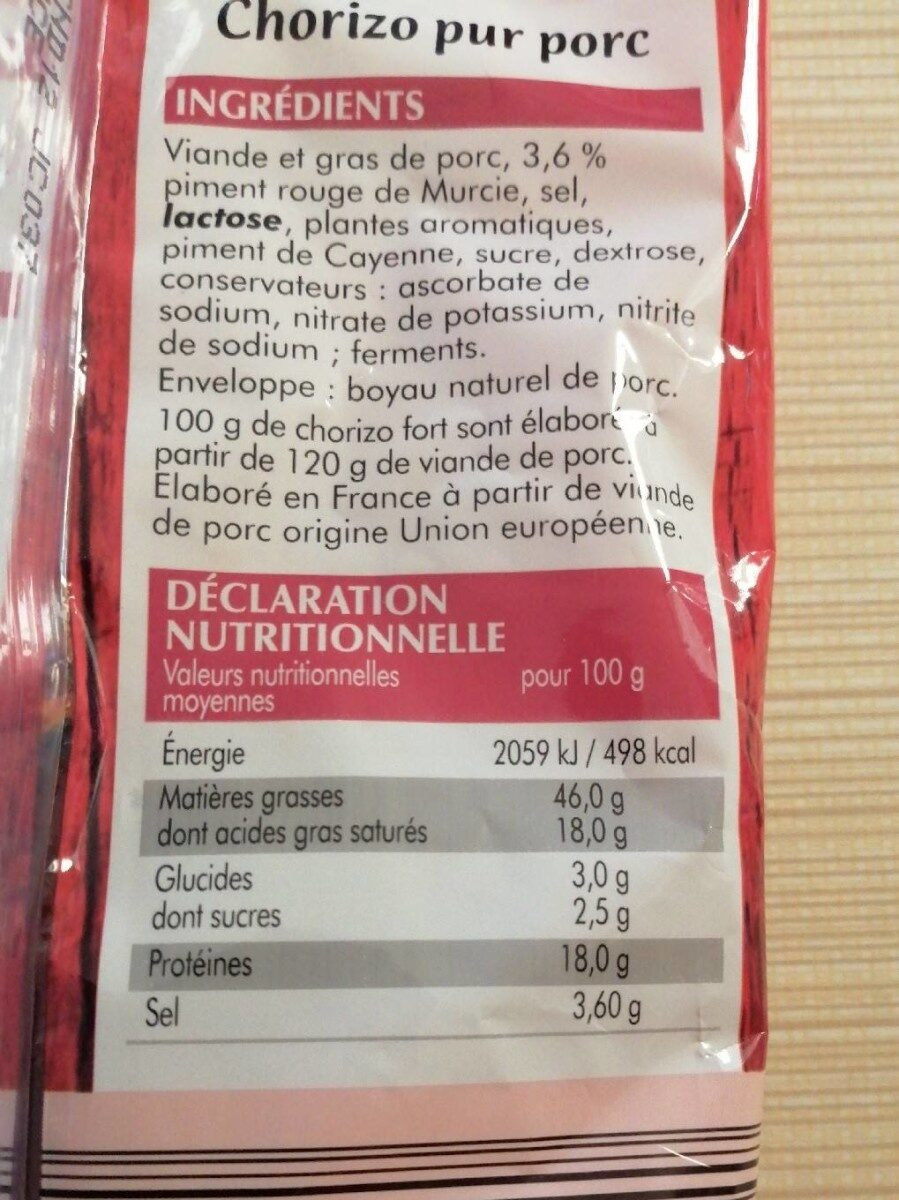 Fromage de chèvre frais - Ingrediënten