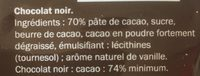 Noir Intense - Ingredients - fr
