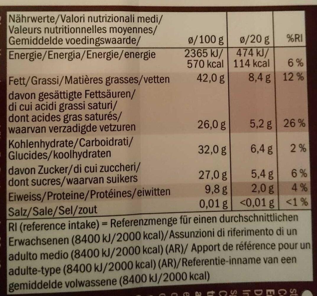 Finest Dark Chocolate 74% Cocoa - Nährwertangaben - de