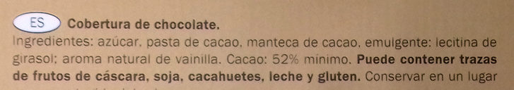 Chocolat Noir Dessert - Ingredientes - es